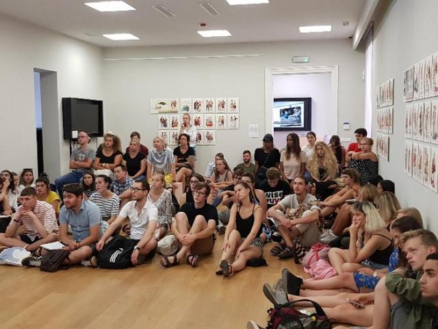 International Youth Summer school attendants visiting SENSE Center (photo Noel Seidel)
